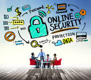 Online Security Password Information Protection Privacy Internet Royalty Free Stock Photos