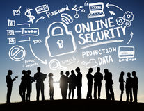 Online Security Protection Internet Safety Business Communicatio Stock Photos
