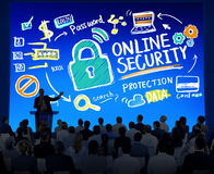 Online Security Protection Internet Safety Business Seminar Conc Royalty Free Stock Images