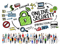Online Security Protection Internet Safety People Diversity Stock Photography
