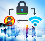 Online Security Protection Networking Privacy Concept.  Royalty Free Stock Image