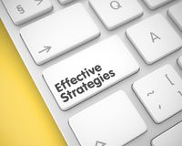 Effective Strategies - Inscription on White Keyboard Keypad. 3D. Online Service Concept with Slim Aluminum Enter White Keypad on the Keyboard: Effective Stock Photography