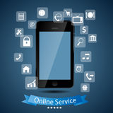 Online service concept vector illustration Stock Photo