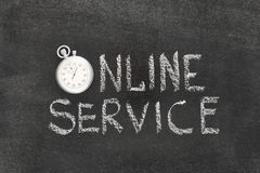 Online service watch Royalty Free Stock Image