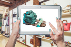 Online shoe store, online sale Royalty Free Stock Images