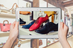Online shoe store, online sale Royalty Free Stock Photography