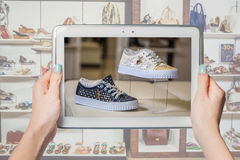 Online shoe store, online sale Royalty Free Stock Photo