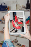 Online shoe store, online sale Stock Image