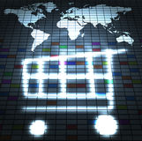 Online shop. Trading around the world abstract illustration Stock Image