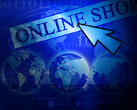 Online shop Stock Image