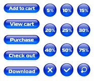 Online shop button set Royalty Free Stock Photos