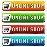 Online shop buttons Royalty Free Stock Photo