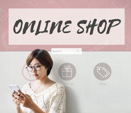Online Shop Buy Internet Shopping Store Concept Stock Image