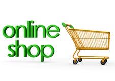 Online shop cart Stock Image