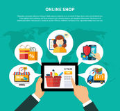 Online Shop Composition Royalty Free Stock Photo