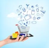 Online shop concept. Royalty Free Stock Photos