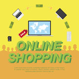 Online Shop. Concept on the sale of digital technology. Stock Image