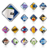 Online Shop, e-commerce and web site icons Stock Photography