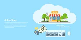 Online-Shop-Fahne Stockfoto