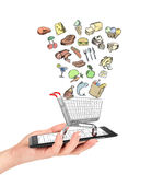 Online shop of foods concept. Stock Photography