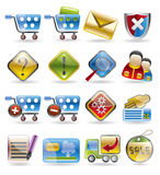 Online Shop Icon Set. Online Shop Icons - vector icon set Set Royalty Free Stock Image