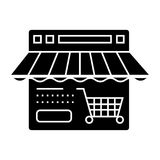 Online shop  icon, vector illustration, sign on isolated background Stock Photography