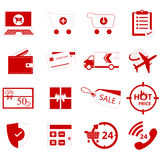 Online shop icon Stock Photo