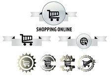 Online shop icon Royalty Free Stock Image