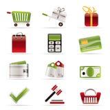 Online shop icons. Icon set Royalty Free Stock Photos