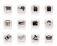 Online shop icons Stock Photography