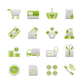 Online shop icons Stock Photos