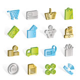 Online shop icons Royalty Free Stock Photography