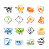 Online Shop Icons royalty free illustration