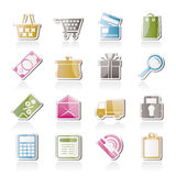 Online shop icons Stock Images