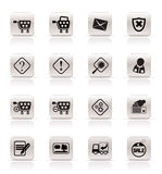 Online Shop Icons Royalty Free Stock Photos