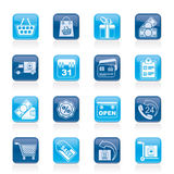 Online shop icons Royalty Free Stock Images