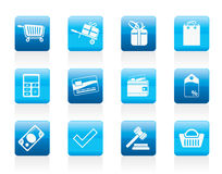 Online shop icons Stock Photo