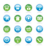 Online shop icons Royalty Free Stock Image