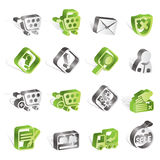 Online Shop Icons Stock Image