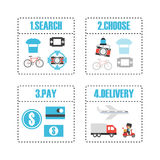 Online shop infographic Royalty Free Stock Images