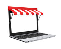 Online-Shop-Konzept lokalisiert Stockfoto