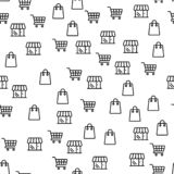 Online Shop Offer Large Discounts Seamless Pattern royalty free illustration