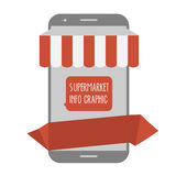 Online shop phone Stock Images