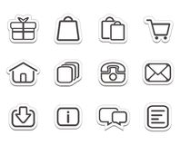 Online shop stickers - icons Royalty Free Stock Photo