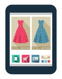 Online shop. On the tablet screen Royalty Free Stock Image
