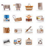 Online Shop and web site icons stock illustration