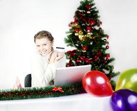 online shoping Arkivfoton