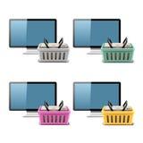 Online Shoping cart  illustration Royalty Free Stock Photos
