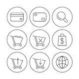 Online shoppin icons Royalty Free Stock Photography
