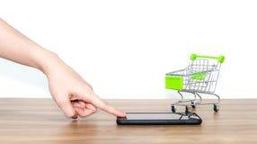 Online shopping fury bubel ecommerce dogodność obrazy royalty free